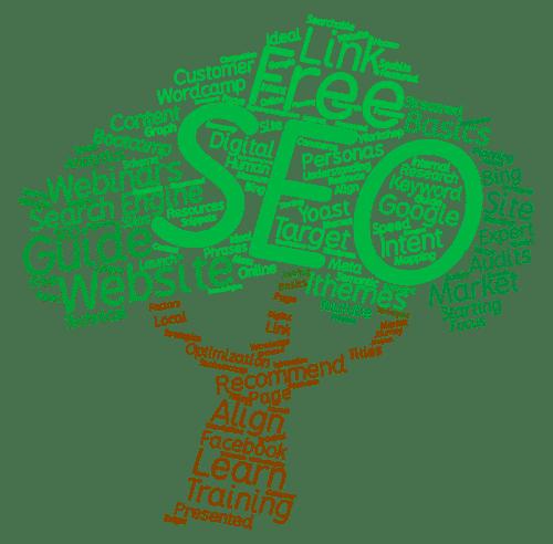 Word Art Tree for Free SEO Webinars